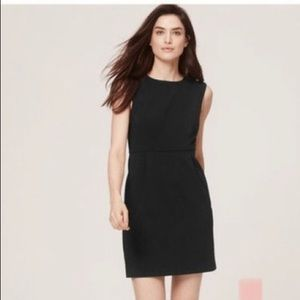 Ann Taylor Sleeveless Black Sheath Dress